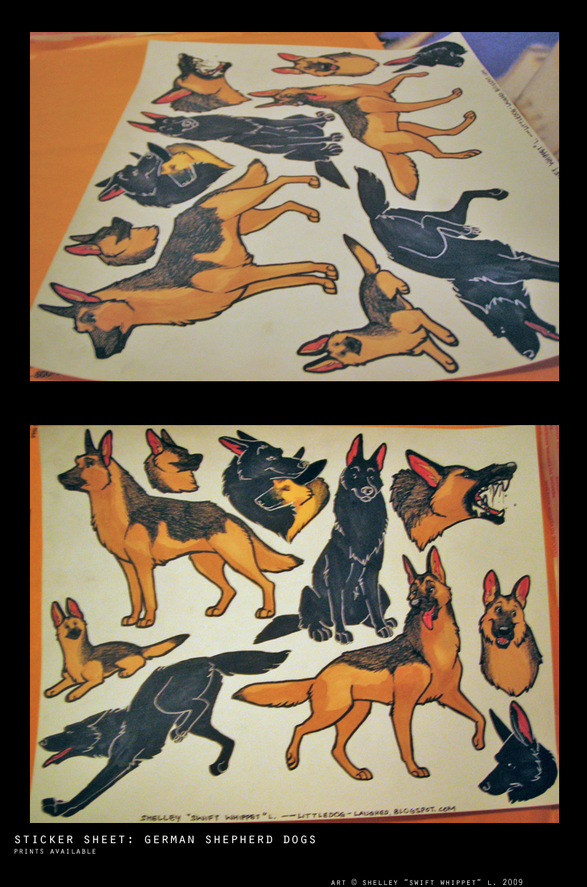 stickers: German Shepherds by shelzie