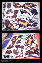 stickers: mustelids by swift-whippet