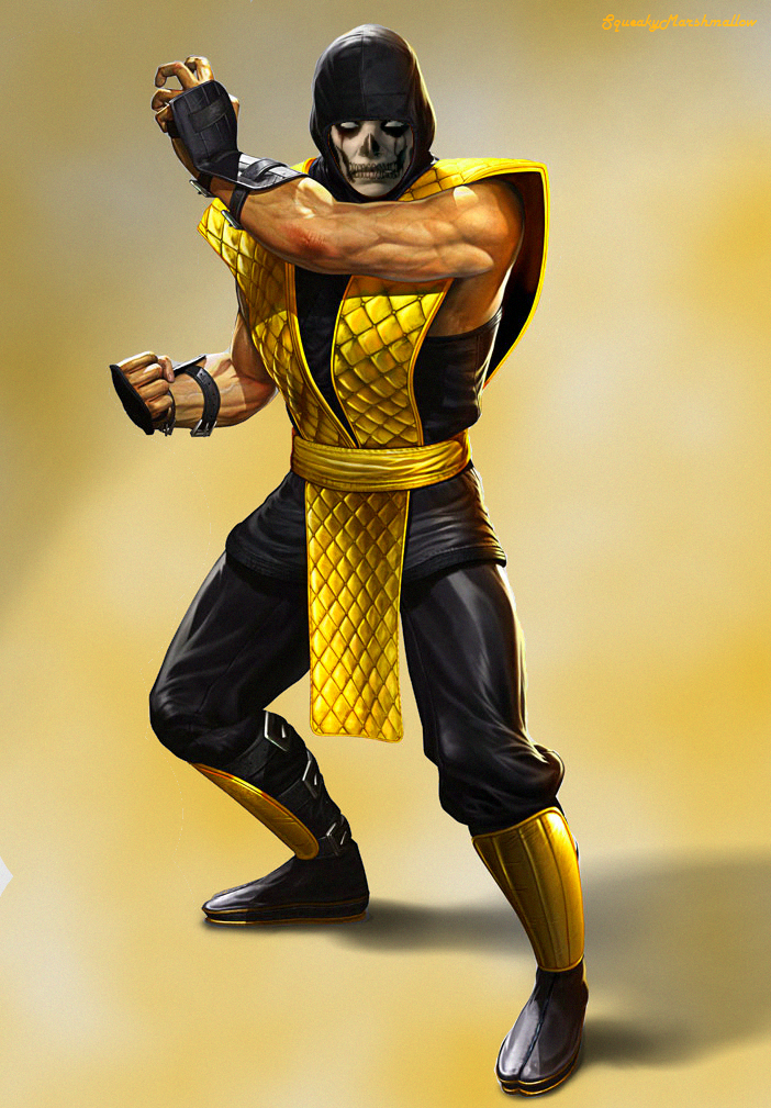 Scorpion Mk9 Face Mk9 klassic scorpion with a painted human face by ...