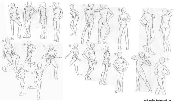 Female Figure Sketches