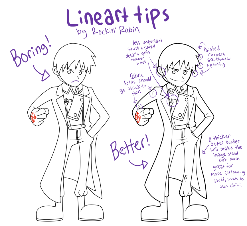 Line Art Tips : Robin s lineart tips by rockinrobin on deviantart