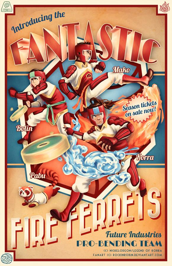 The Fantastic Fire Ferrets by rockinrobin