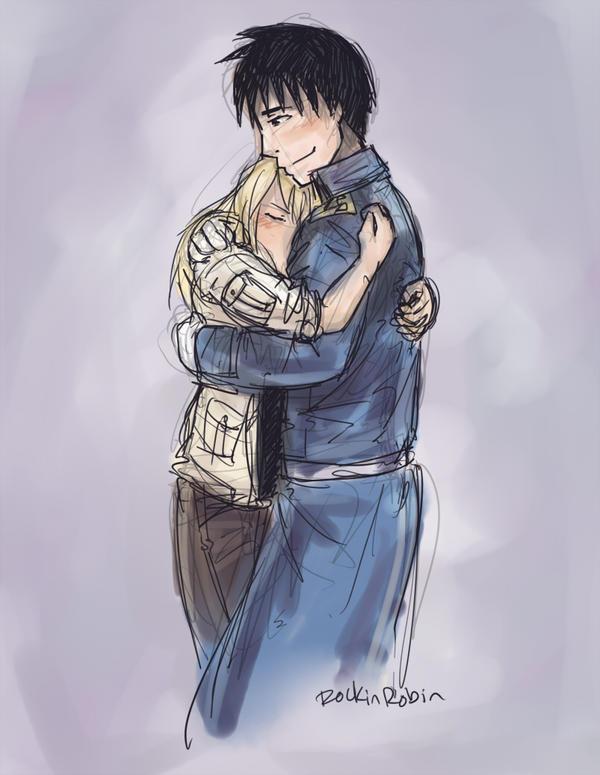 royai hug by rockinrobin