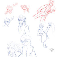 Kelath and Xael sketches by Xael-The-Artist