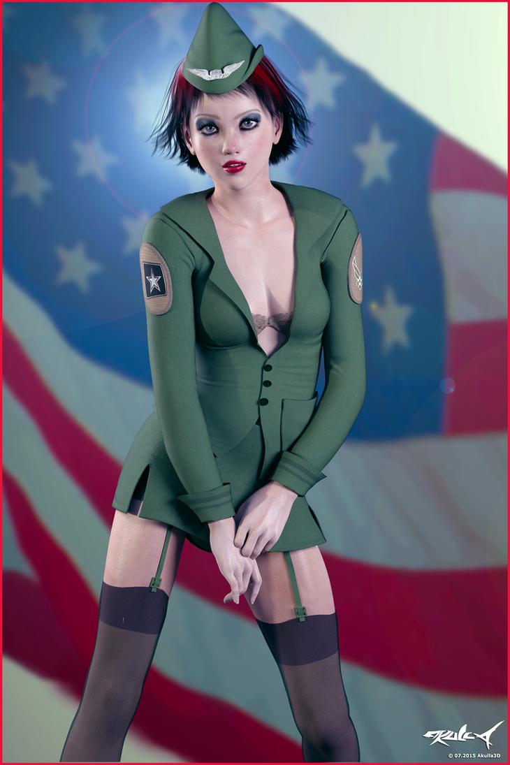All American Girl - 2015 by akulla3D