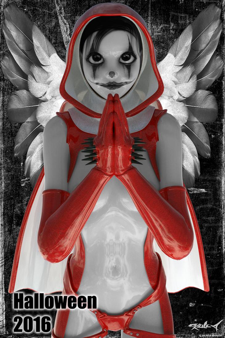 All Hallos Angel - Halloween 2016 by akulla3D