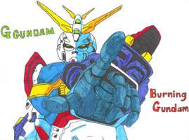 G Gundam - Burning Gundam by REDXIII-Nanaki