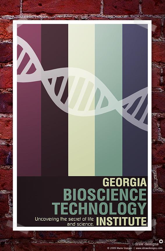 Georgia Bioscience Poster by mirako-hikaru