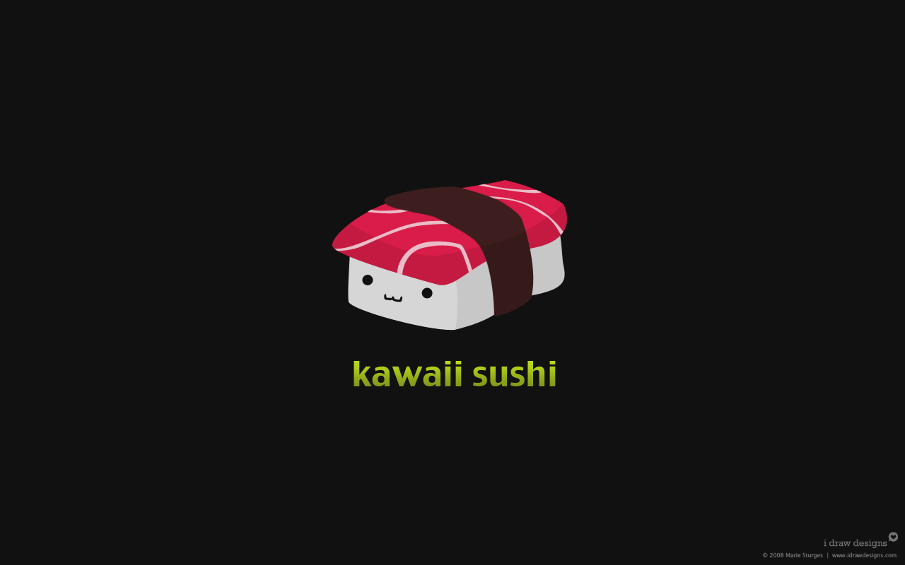 Kawaii Sushi Wallpaper By Mirako Hikaru On Deviantart