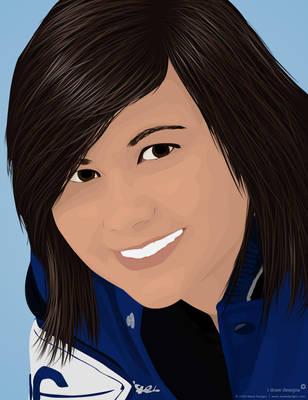 Vector Portrait of Marie 2 by mirako-hikaru