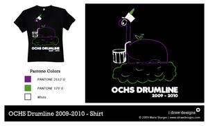OCHS Drumline 2009-2010 Shirt by mirako-hikaru