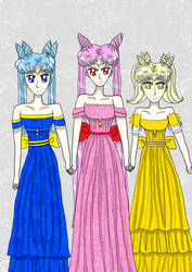 Fighter Moon Earth Princesses by CrystalSetsuna