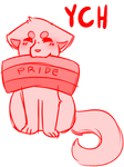 pride flag YCH | AUCTION | CLOSED
