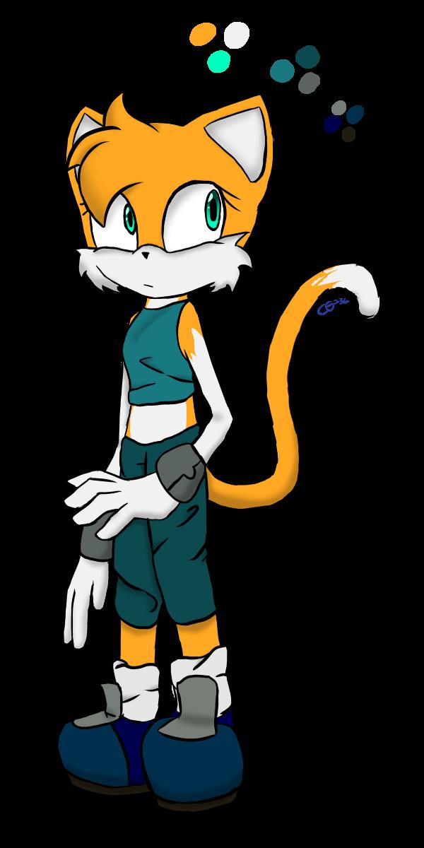 Koharu the Cat (Sonic OC redraw) by CatGirl236