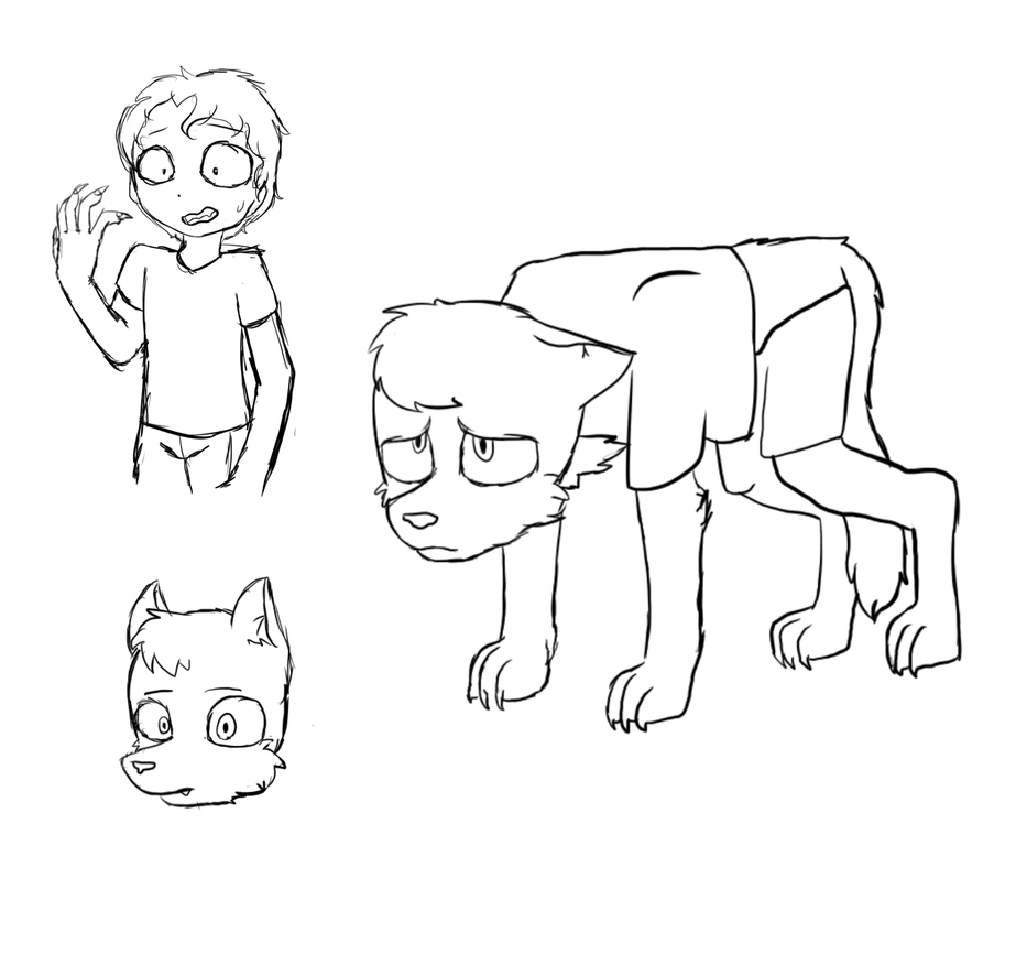 Werewolf Friend sketch by CatGirl236