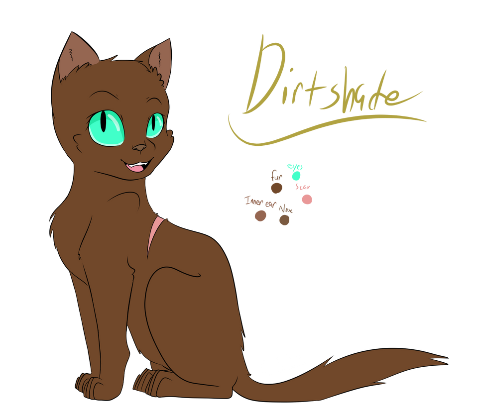Dirtshade (Warrior Cats OC) by CatGirl236