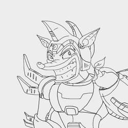 Crash as Mega Man by sbad040