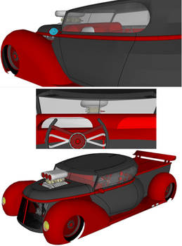 dream pickup truck in 3d another view