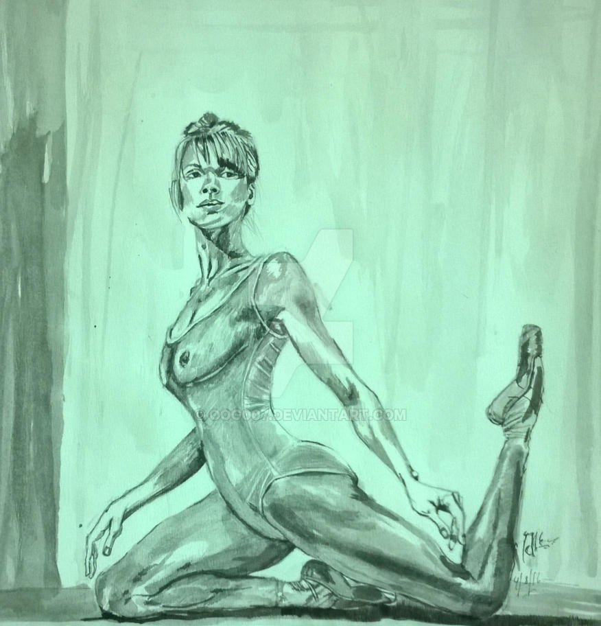 Ballerina: Ink on paper by Oog007