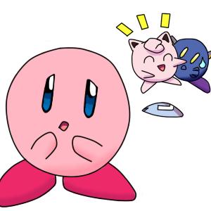 Kirby is jealous by HappyNinjaPichu