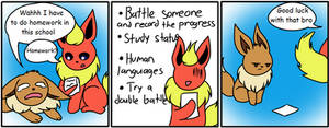 The Eevee Army #20: Homework by HappyNinjaPichu