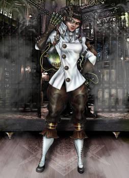 Steampunk Project - Dr. Hildaguard Metzger (Digi.)