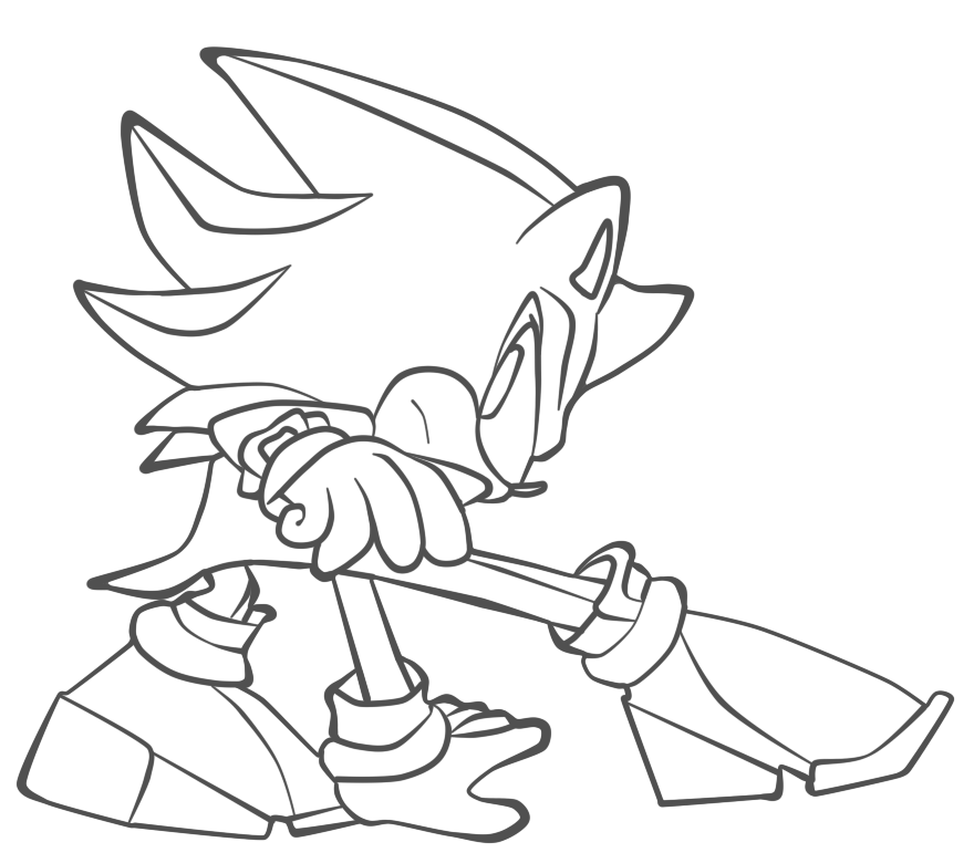 coloring pages of shadow the hedgehog | shadow the hedgehog lineart by cheesestick101 on DeviantArt