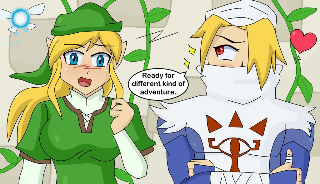 Zelda And Link Having A Baby