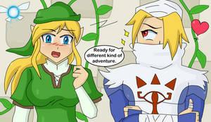 Link and Zelda gender bender