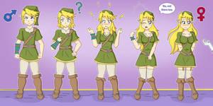 Link Transformation (Gender Bender) by TheMaskofaFox