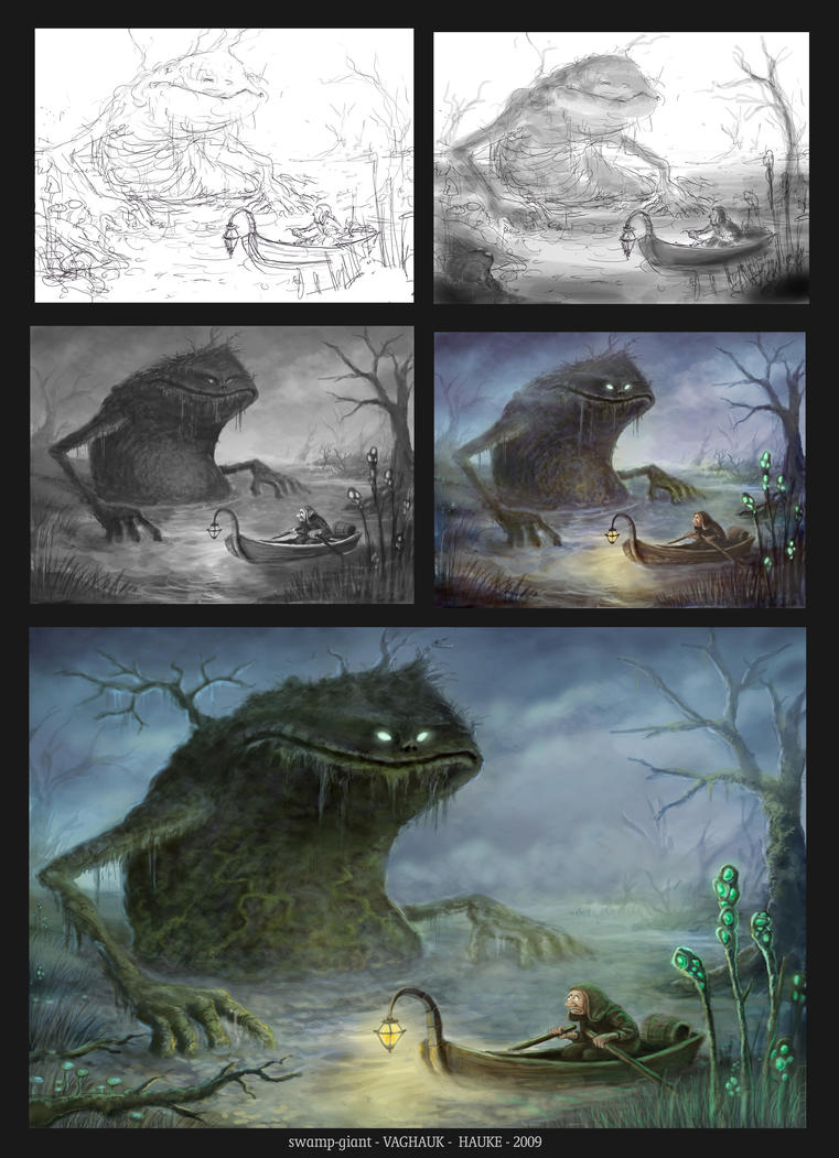 making of swamp giant by Vaghauk