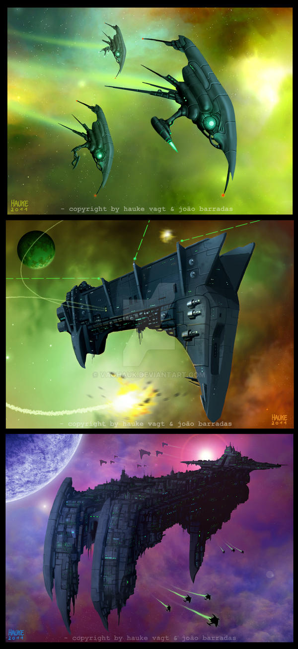 more dark force ships by Vaghauk