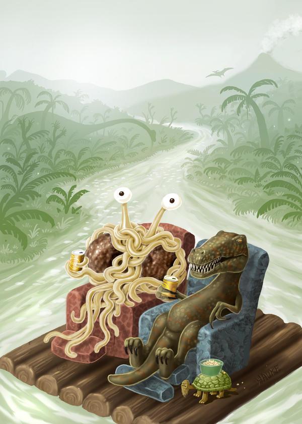 flying spaghetti monster cover by Vaghauk