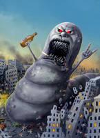 The Giant Death Worm by Vaghauk