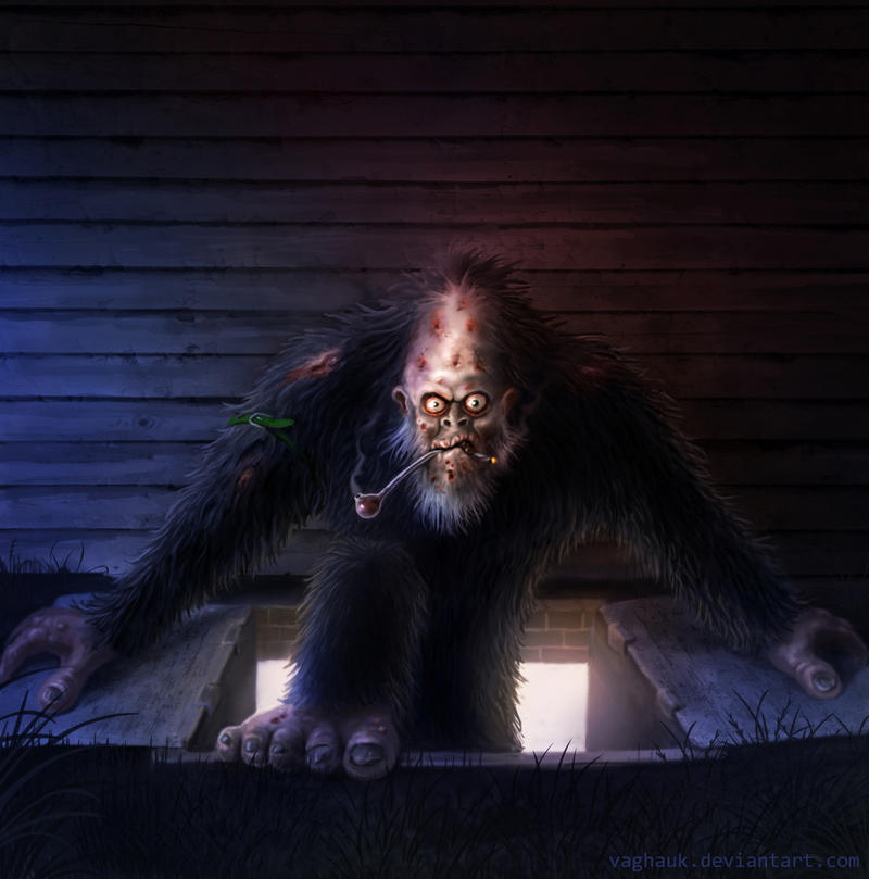 meth addicted bigfoot by Vaghauk