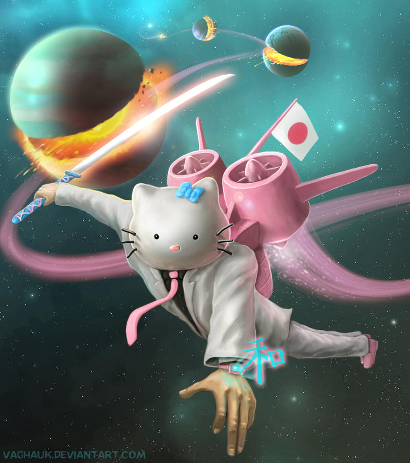 hello kitty space ninja assassin of planets by Vaghauk