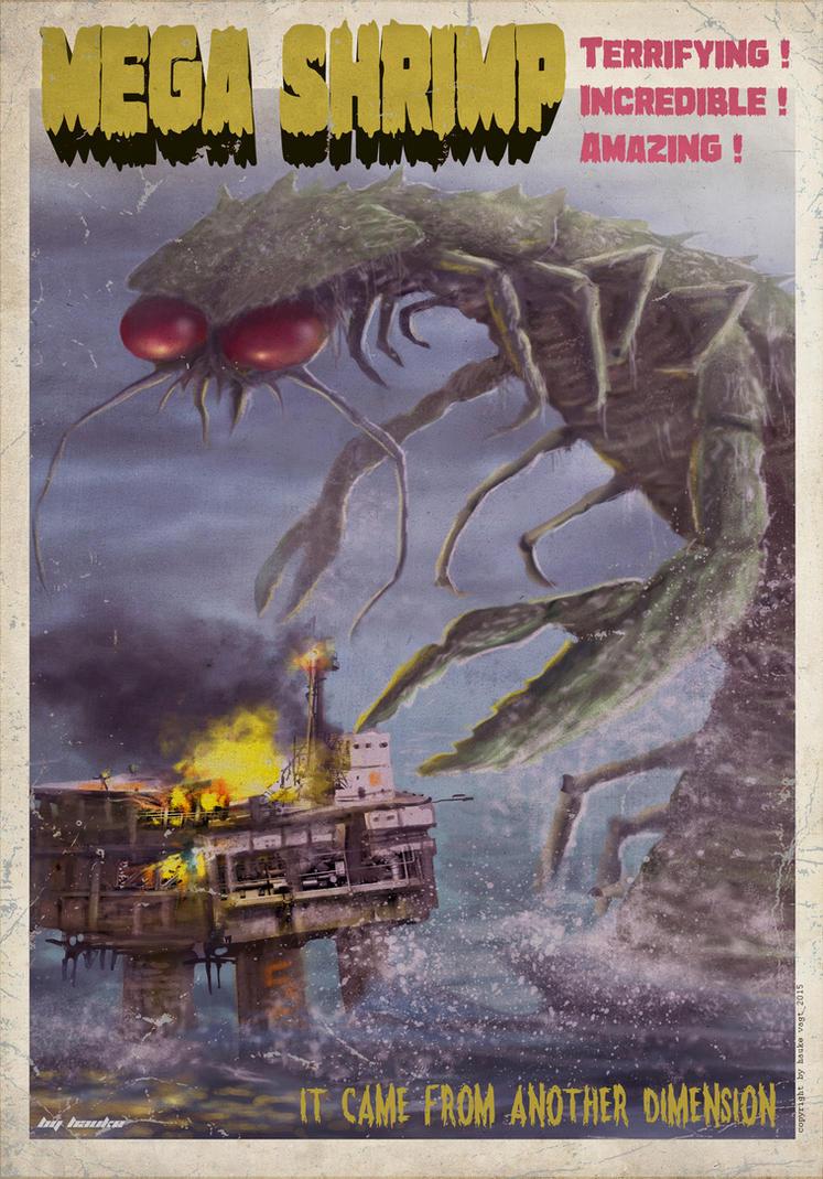 megashrimp Poster by Vaghauk