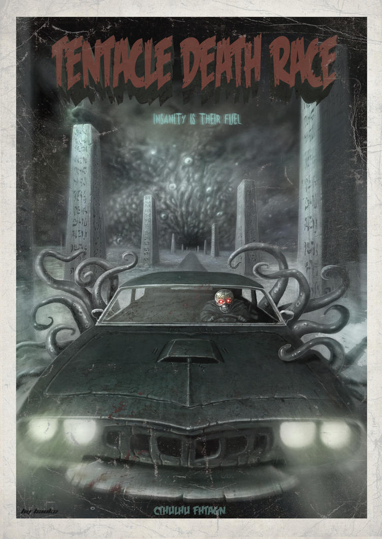 Tentacle Death Race Poster by Vaghauk