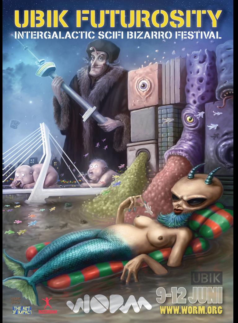 Ubik Futurosity Festival Poster by Vaghauk