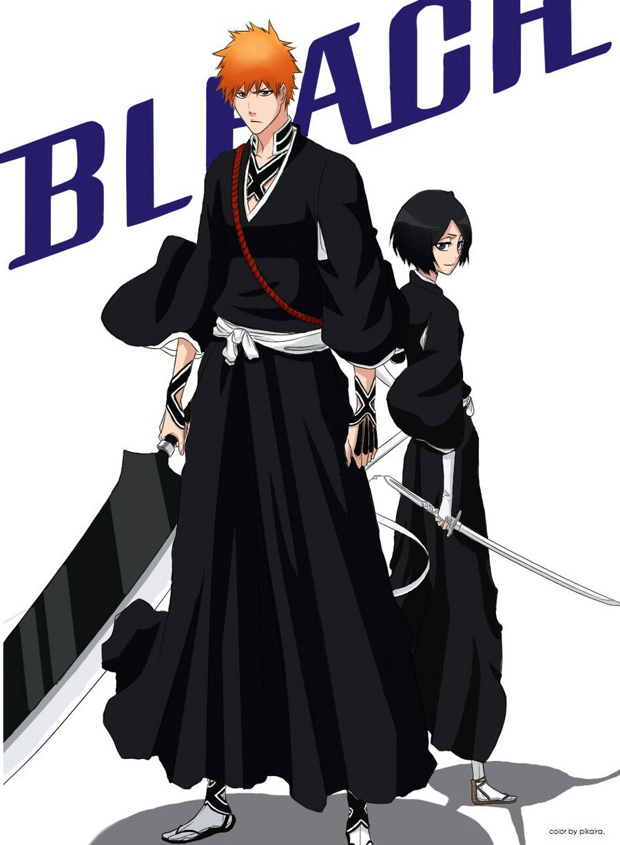 Bleach Rukia and Ichigo by pikaira on DeviantArt