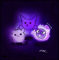 Ghost trio by pikaira