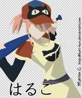Haruko -- FLCL vector by akari-kun
