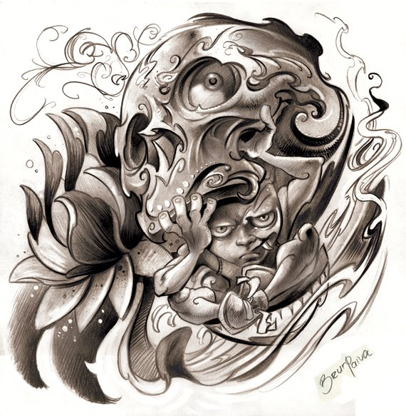 drawing skull designs images