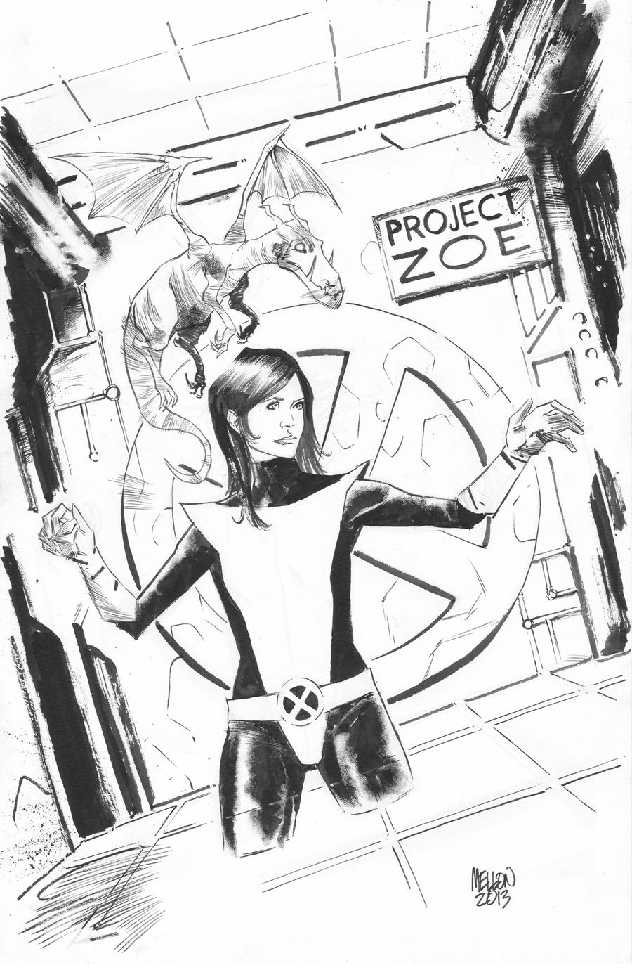 Kitty Pryde and Lockheed by kevinmellon