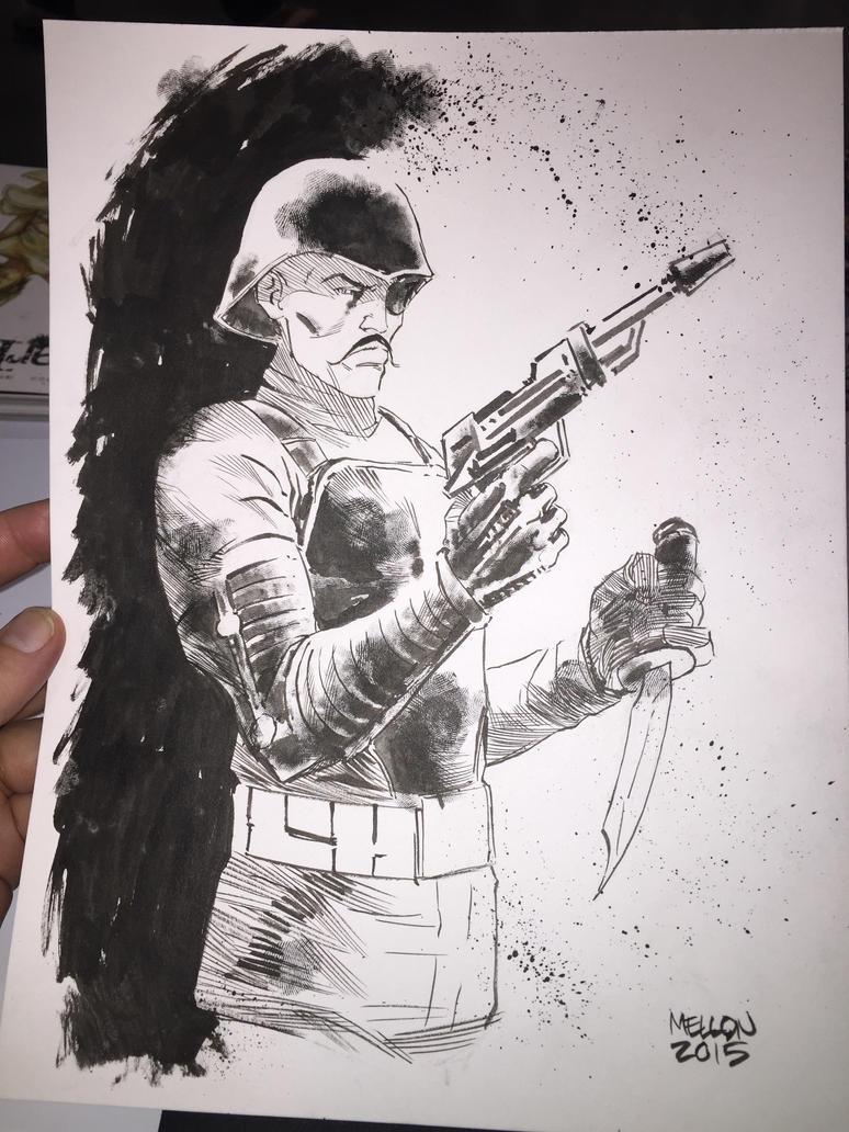 major bludd sketch - heroes con by kevinmellon