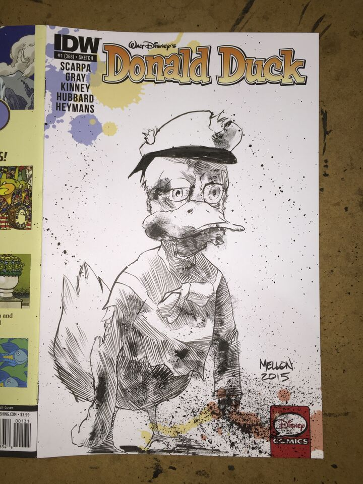 Zombie Donald Duck commission by kevinmellon