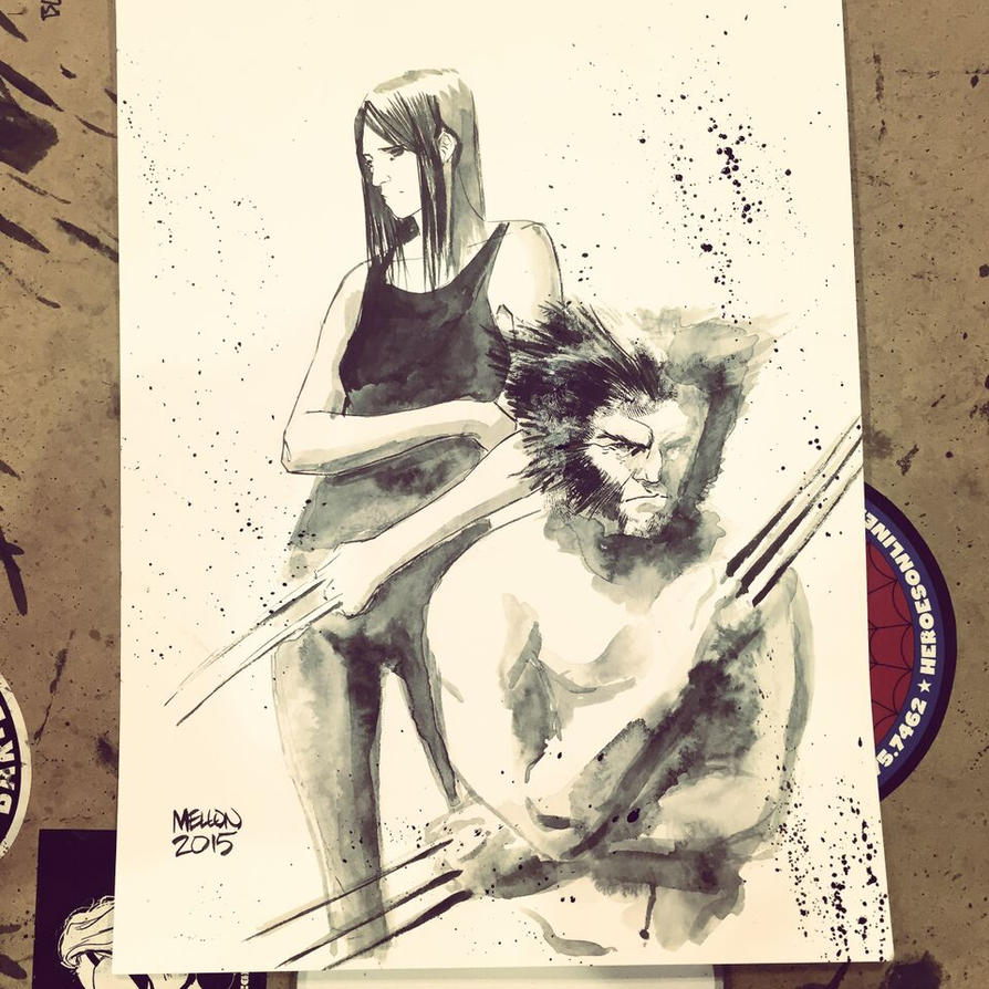 Wolverine / X-23 commission by kevinmellon