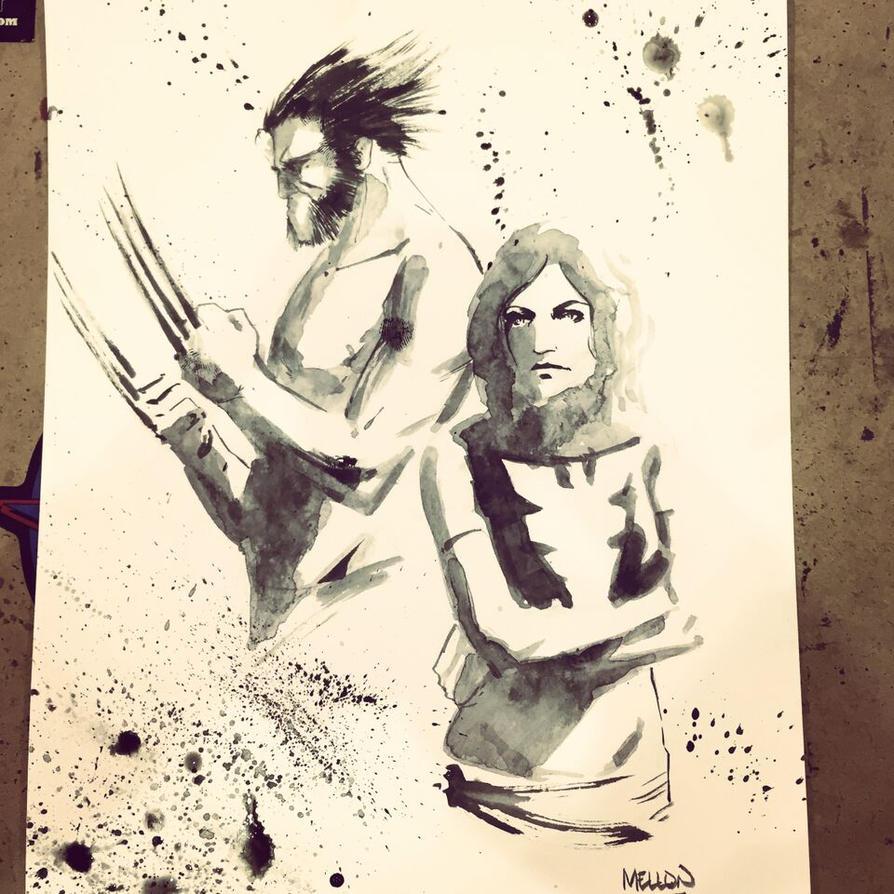 Wolverine / Phoenix commission by kevinmellon