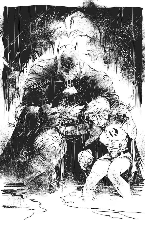 Batman - inks over Jim Lee pencils. by kevinmellon