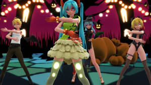 [MMD Video]Happy Halloween[TDA Miku Len Neru]